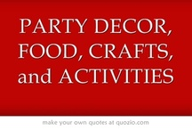 PARTY DECOR, FOOD, CRAFTS & ACTIVITIES / This is a Title Page