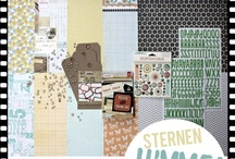 "Septemberkit 2012 ""Sternenhimmel"" / - ILS I lowe scrap - Studio Calico - Basic Grey - Alphas - Journaling Cards - Tags - Label Sticker - Wood Veneer -"