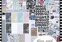 """Novemberkit 2012 """"dies und das"""" / - Echo Park - Lily Bee - Alphabet Sticker - Design Sticker - ZING Embossingpulver American Crafts -"""