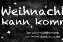 """Aktion: Weihnachten kann kommen / Wir suchen bei unserer Aktion """"Weihnachten kann kommen"""" 24 kreative Weihnachtsideen für unser Inspirationen Magazin. Dies sind eure Vorschläge, über die ihr bis zum 3.11.2013 abstimmen könnt. Die Anleitungen findet ihr auf den entsprechenden Blogs. Mehr Informationen zur Aktion auf www.danipeuss.de findet ihr hier:  http://danipeuss.blogspot.de/2013/09/aufruf-zur-dp-weihnachtsaktion.html"""