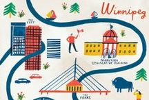 Maps / beautiful illustrated maps, things made out of maps, old maps, new maps