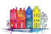 House Illustrations / by Natalie Lowry