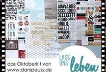 """Oktoberkit 2014 """"Lass uns leben"""" / Werke mit dem #dpOktoberkit14 von www.danipeuss.de mit Papieren und Embellishments von My Minds Eye, Pink Paislee, Pebbles, Studio Calico, American Crafts"""