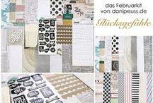 """Februarkit 2015 """"Glücksgefühle"""" + AddOns / http://www.danipeuss.de/scrapbooking/55-monatliche-kits?TreeId=11"""