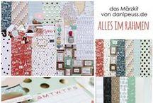 """Märzkit 2015 """"Alles im Rahmen"""" & Add Ons / Werke des Design Teams mit dem #dpMaerzkit15 und farblich darauf abgestimmten Add Ons von www.danipeuss.de"""