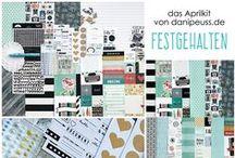 """Aprilkit 2015 """"Festgehalten"""" & Add Ons / Werke des Design Teams mit dem #dpAprilkit15 und farblich darauf abgestimmten Add Ons von www.danipeuss.de"""