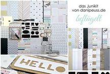"Junikit 2015 ""beflügelt"" + AddOns / Werke mit dem Scrapbooking Kit, Minikit, Project Life & Planner Kit, Karten Kit, Mixed Media Kit und den Klartext Stempel AddOns von www.danipeuss.de #dpJunikit15"