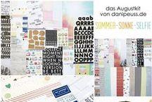 "Augustkit 2015 ""Sommer-Sonne-Selfie"" + AddOns / Werke mit dem Scrapbooking Kit, Minikit, Project Life & Planner Kit, Karten Kit, Mixed Media Kit und den Klartext Stempel AddOns von www.danipeuss.de #dpAugustkit15"
