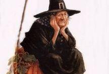 heksen/witches / Heksen, ik vind ze geweldig. Zeg altijd dat ik vroeger ook een heks was, ben alleen mijn boek en stafje kwijt dus toveren lukt niet meer. Alhoewel, soms tover ik nog hele mooie dingen maar dat is meer handwerk. Geniet van alle heksen op deze pagina. Het is een bonte verzameling.