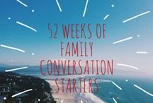 52 Weeks of Family Conversation Starters / 52 Weeks of Family Conversation Starters. Sign up to receive yours at http://www.christamelnykhines.com/52-weeks-of-family-conversation-starters/
