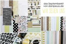 "Septemberkit 2015 ""Wir sehen uns"" + AddOns / Werke mit dem Scrapbooking Kit, Minikit, Project Life & Planner Kit, Karten Kit, Mixed Media Kit und den Klartext Stempel AddOns von www.danipeuss.de #dpSeptemberkit15"