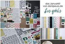 "Januarkit 2016 ""Los geht's"" + AddOns / JanuarKit 2016 ""Los geht´s"" + AddOns Werke mit dem Scrapbooking Kit, Minikit, Project Life Kit, Planner Kit, Karten Kit, Mixed Media Kit und den Klartext Stempel AddOns von www.danipeuss.de #dpJanuarkit16"