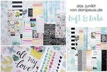 "Junikit 2016 ""Luft & Liebe"" + AddOns / Werke mit dem Scrapbooking Kit, Minikit, Project Life Kit, Planner Kit, Karten Kit, Mixed Media Kit und den Klartext Stempel AddOns von www.danipeuss.de #dpJunikit16"