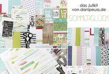 "Julikit 2016 ""Sommerglück"" + AddOns / Werke mit dem Scrapbooking Kit, Minikit, Project Life Kit, Planner Kit, Karten Kit, Mixed Media Kit und den Klartext Stempel AddOns von www.danipeuss.de #dpJulikit16"