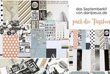 "Septemberkit 2016 ""pack die Taschen"" + AddOns / Werke mit dem Scrapbooking Kit, Minikit, Project Life Kit, Planner Kit, Karten Kit, Mixed Media Kit und den Klartext Stempel AddOns von www.danipeuss.de #dpSeptemberkit16"