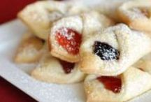 Eastern European Kolacky / These Eastern European cookies are a necessity at many Bohemian family gatherings. In the Bohemian community, Kolacky recipes are preserved and handed down generation after generation, just like our filling!