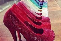 Glass Slippers / I LOVE shoes; but, realistically, I could never wear most of these.  I have had 4 beautiful babies and the pregnancies have done a number to my back.  BUT…I can dream! / by Natasha Archer