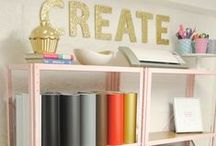 House-spirations: A Place To Create / CREATE A CRAFT SPACE YOU WANT TO CREATE IN!  Looking for more inspiration!?! Check out my other House-spiration boards!