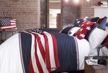 American Freshman / An exciting new American preppy range of bedding.  With stripes in bold colours ad washed out designs, it is sure to make any room Cool.