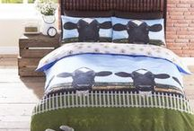 #Bedding / Fun, Retro bedding.  Very reasonably priced