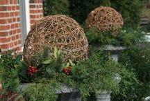 Christmas/WINTER Outdoor Planters & Decor...