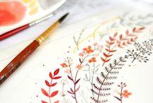 Watercolor - Flowers