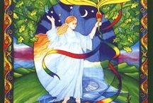 Hail, Brigid! / This board is dedicated to the Irish goddess Brigid-- the Exalted, Fiery Arrow, the Shining Lady who walks between the realms. / by Jennifer Parsons