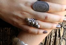Accessories On Display / Layered necklaces, stacked rings, rows of sunglasses, and everything that sparkles.