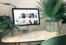 Work + Play / design inspiration for office + work space