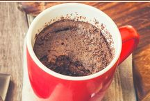 """❃Mug Cakes❃ / """"When you want something for dessert that's more than a chocolate bar or ice cream, but still easy enough to make that you can eat it ASAP, mug cakes are your friends. Most of these take less than 2 minutes to make in a microwave"""""""