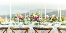 Malibu Rehearsal Dinner / Precious and Blooming designed the florals for this late summer rehearsal dinner in Malibu, California. Wedding inspo, floral design, luxury. Images by Sanaz Photography