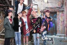 BTS / only group pics and similiar of bts...photos with only one member are pinned on specific walls