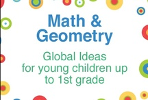 Math & Geometry - Global Ideas  / A collaborative board of ideas, hands-on activities, arts and crafts that teach math and geometry to young children up to first grade. (Please do not pin products that are for sale. Bloggers please pin from your own blog.) / by Kristi @ Creative Connections for Kids