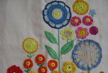 Brooch pictures/Embroidered Flowers / by Pam York-Mietus
