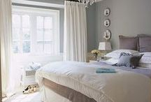 Master Bedroom Redesign / Inspiration for redesigning our master bedroom. Ideas include placing our bed in front of windows, using gray in the color scheme and finding better storage to display.