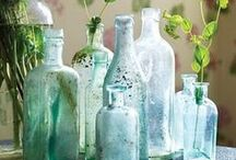 Collecting glass: vintage and modern glass / I love art glass, under most of its form: vases, paperweight and sculptures. I also love finding old pieces of everyday glass such as vintage milk or water bottles.   I do own some beautiful art glass pieces and if I had more money, I would buy so much more!