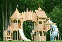Kids Playroom & Playhouses / For the Kids / by Sally Kassoff