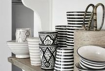 for the home :: monochrome / combining black and white is an excellent way to create an instant contrast in your home and these monochrome accessories and home wares are certainly no exception...