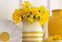 for the home :: yellow / add a sunny touch to your home by decorating with yellow accents...