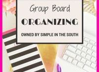 """ORGANIZING GROUP BOARD / This is a group board for all Simple in the South readers, who want to share their very best tips, motivation & organizing pins.   1.  Follow Simple in the South on Pinterest (not just 1 board) 2.  send request to donnawilkerson23(at)aol(dot)com with which boards you want to join (6 total)and put """"board invite"""" in the subject line. *NO SPAM *LONG PINS ONLY"""