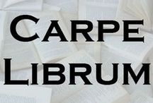 """Carpe Librum / A board to celebrate 100 members and the 1st anniversary of the Carpe Librum group on Swap-bot (http://www.swap-bot.com/group/8767b94157f4fc27f256c91160607a05/about). My goal is to have only pins that feature the words """"Carpe Librum"""""""