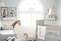 House: Nursery Boy Blue White Grey Gold / Nursery ideas for a boy nursery with the color palette of blue, white, grey and gold. Please share your best decor ideas for a baby boy's nursery. To collaborate and curate on this board, contact me at email@sengerson.com  #homedecor #homestyle #sengerson #nursery #boynursery