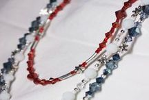 Artbeads Red, White and Blue Contest Entries / Artbeads.com and SWAROVSKI ELEMENTS are offering two fab contests to make the 4th of July a sparkling celebration of patriotism! Enter their patriotic design contest for the chance to win an awesome prize and then you can enter ours to win even more! Get all the details here: http://www.artbeads.com/swarovski-artbeads-contests.html#contest
