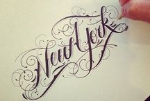 Typography and Design / Beautiful script and writing.
