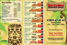 Menu and Price List Designs / Menu designs | www.designfreak.me #menus #takeaway #restaurant #design #pricelist