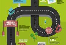 Infographics - road maps and journeys