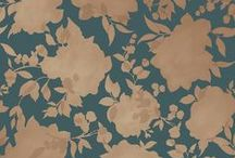 """MEET SILHOUETTE / Launched in February 2016,  SILHOUETTE Dusted Lavender is from the Tempaper Elements Collection.  Reminiscent of a beautiful summer canopy of leaves, petals and sunlight.  SILHOUETTE is temporary, removable wallpaper sold as 1 double roll of 20.5 in. x 11 yds. = 56.37 sq. ft. Silhouette repeat is 20.5""""  Available Colorways:  Peacock Blue + Metallic Gold 
