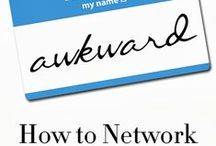 Networking / How to create and maintain professional contacts (including online).