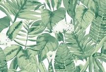 MEET TROPICAL / Welcome to the rainforest! Tropical Jungle Green in a green and white colorway is part of the Tempaper Elements Collection. This pattern creates a tropical atmosphere with calming green tones and beautiful watercolor finish.   Tropical Jungle Green is self-adhesive and removable wallpaper sold as 1 double roll of 20.5 in. x 11 yds. = 56.37 sq.  Tropical is a drop match pattern with a 20.5 inch repeat.