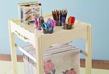 Get Your Craft Space Organized / We could all use a little organization in our life's. Especially in our Craft Spaces!  Here's some ideas we enjoy that keep our Scrapbooking, Card Making, & All other Paper Crafting supplies ORGANIZED
